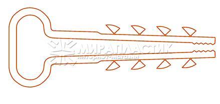 Дюбель-хомут для крепления прямоугольного кабеля