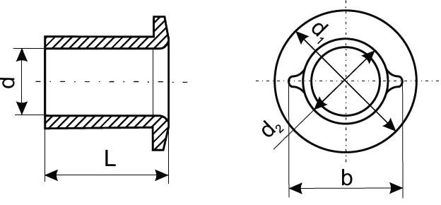 Втулка проходная чертеж