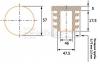 чертеж круглой заглушки 57 мм