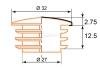 Чертеж заглушки хром 32 мм